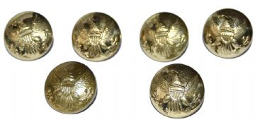 Union Large Frock Coat Or Shell Jacket Buttons x 6